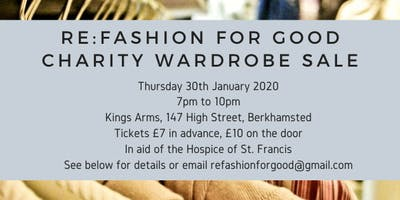 Re:Fashion for Good Charity Wardrobe Sale
