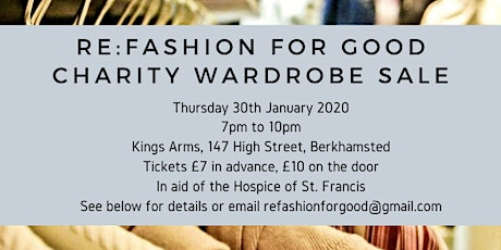 Re:Fashion for Good Charity Wardrobe Sale tickets