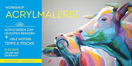 Workshop Acrylmalerei – Farben zum Leuchten bringen tickets