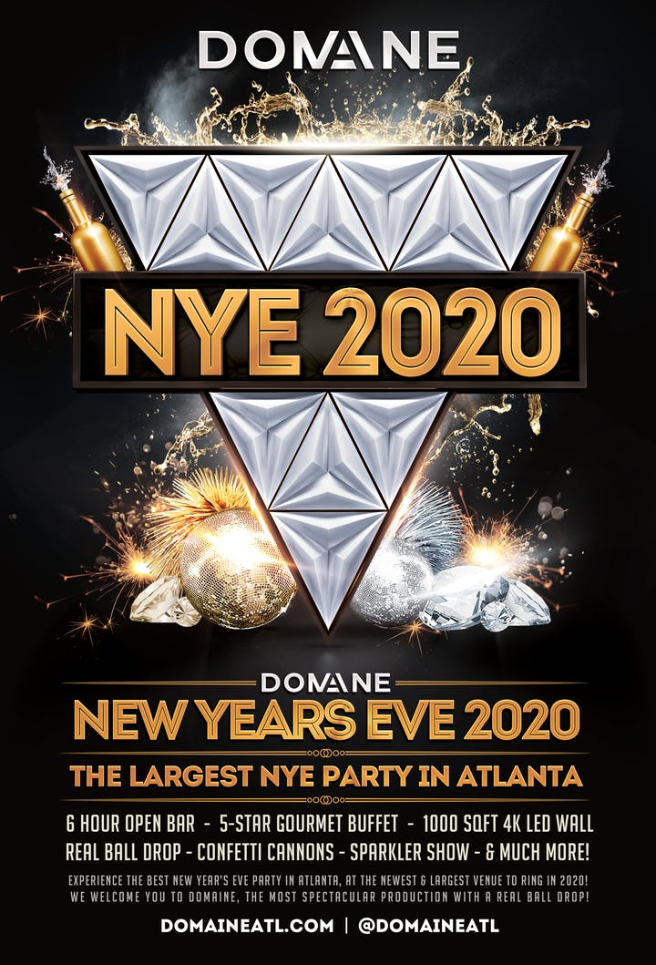Atlanta Events 2020.Domaine New Year S Eve 2020 On Tuesday 12 31 2019 Tickets
