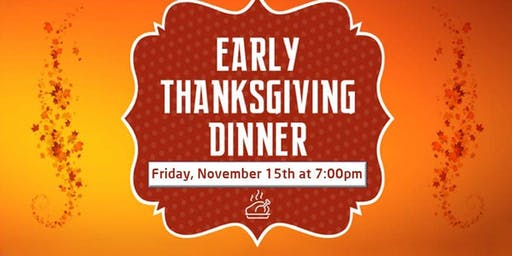 FREE Early Thanksgiving Dinner