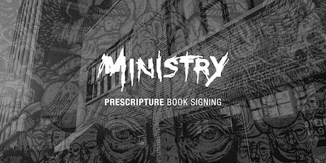 Ministry book signing with Al Jourgensen and Aaron Tanner tickets