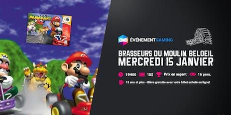 Événement Gaming présente : Tournoi Mario Kart 64 au Brasseurs du Moulin billets