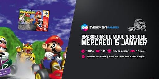 Événement Gaming présente : Tournoi Mario Kart 64 au Brasseurs du Moulin