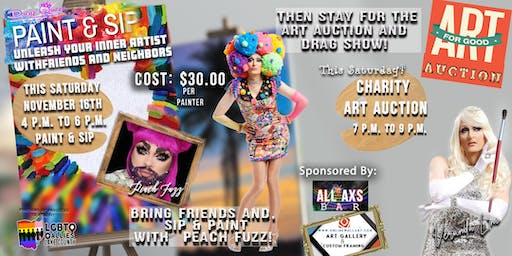Charity Art Auction with a New Sip & Paint added with Peach Fuzz & Veranda L'Ni!