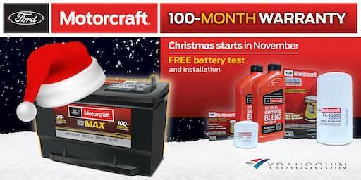 Motorcraft Christmas starts in November Event