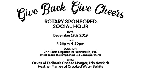 Give Back, Give Cheers – Rotary Sponsored Business Social Hour tickets