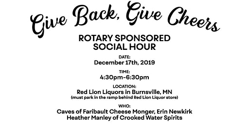 Give Back, Give Cheers – Rotary Sponsored Business Social Hour