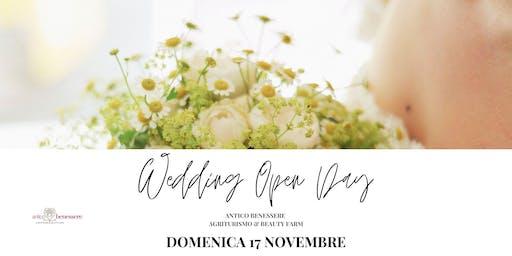 WEDDING OPEN DAY - DOMENICA 17 NOVEMBRE