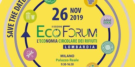 Ecoforum: l'economia circolare dei rifiuti in Lombardia biglietti
