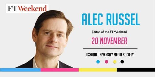 Alec Russel at the Oxford University Media Society
