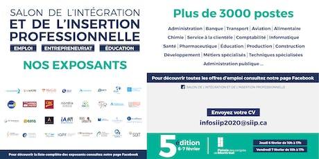 Information sur les offres d'emploi - SIIP 2020 billets