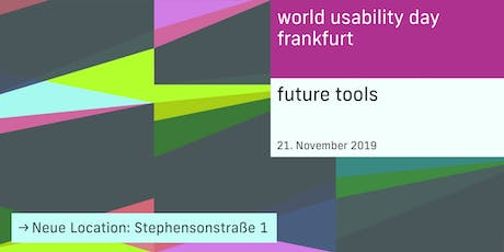 World Usability Day Frankfurt 2019 - Future Tools Tickets