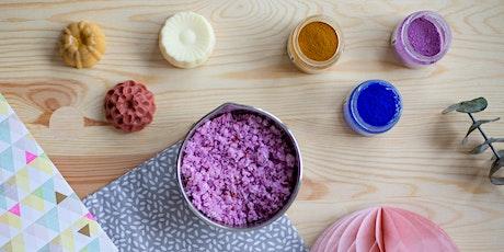 Atelier cosmétiques naturels pour enfant - savons colorés et sels de bain billets