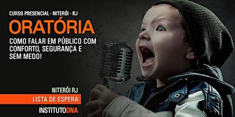 LISTA DE ESPERA - ORATÓRIA:Como Falar em Público com Segurança bilhetes