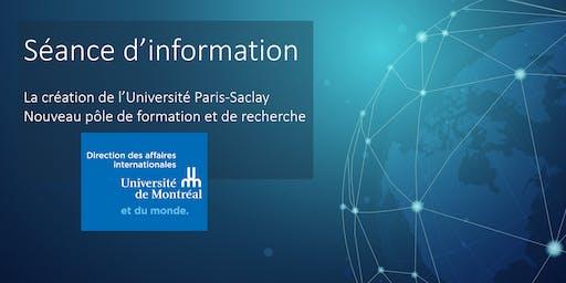 Création Université Paris-Saclay/Nouveau pôle de formation et de recherche