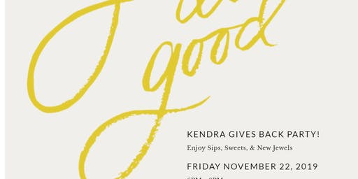 Kendra Gives Back to Children's Books on Wheels