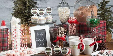 Hot cocoa & cookie bar