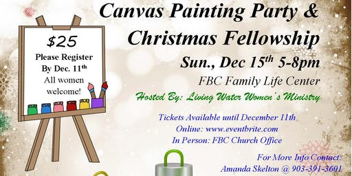 Christmas Canvas Painting & Women's Fellowship