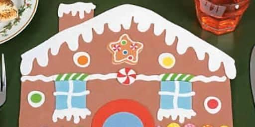 Gingerbread House Placemat Craft