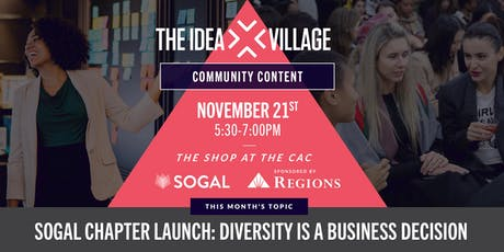 The Idea Village Community Content Series sponsored by Regions Bank tickets