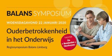 Ouderbetrokkenheid in het Onderwijs - Regiosymposium Balans Limburg tickets