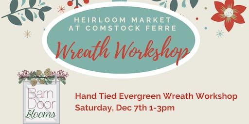 Hand-tied Fresh Wreath Workshop at Heirloom Market