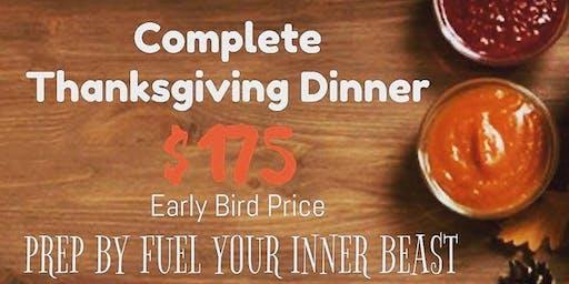 2019 Pre-Fix Thanksgiving Dinner (Feeds 6-8)
