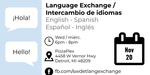 Language Exchange at PizzaPlex