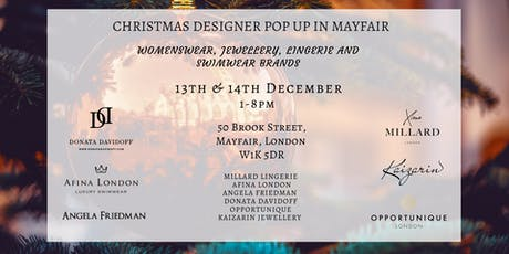 Christmas Designer Pop Up In Mayfair tickets