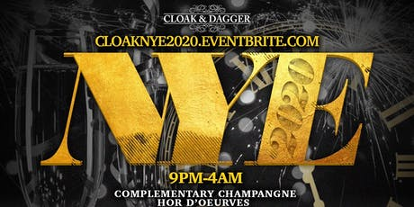 New Year's Eve 2020 at Cloak & Dagger tickets