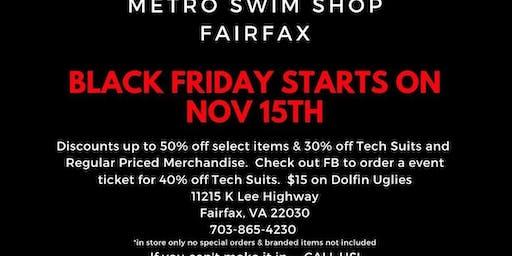 Black Friday at Metro Swim Shop Fairfax