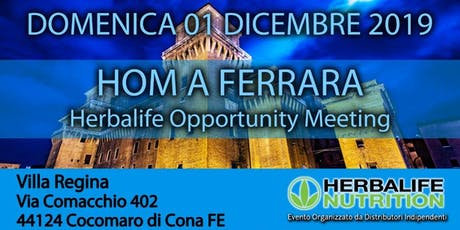 Herbalife Opportunity Meeting FERRARA biglietti