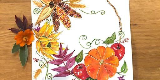 Paint Fall Harvest Botanical Wreaths