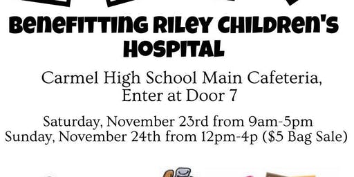 Huge Charity Garage Sale Benefitting Riley Children's Hospital