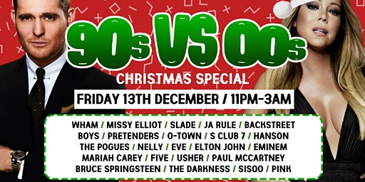 90s vs 00s The Christmas Throwback at  The Lost Paradise - December 13th