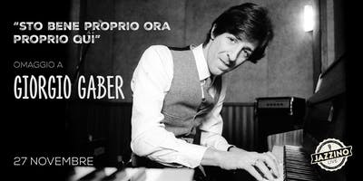 """""""Sto Bene, Proprio Ora, Proprio Qui"""" - Giorgio Gaber - Live at Jazzino"""