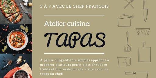 5 à 7 Atelier cuisine: Tapas