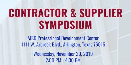 AISD Contractor & Supplier Symposium tickets