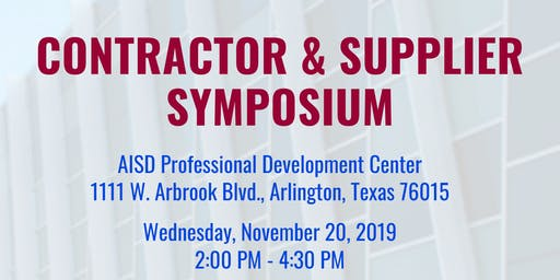 AISD Contractor & Supplier Symposium