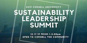 2019 Cornell Sustainability Leadership Summit - Open...