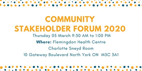 Community Engagement Stakeholder Forum 2020 tickets