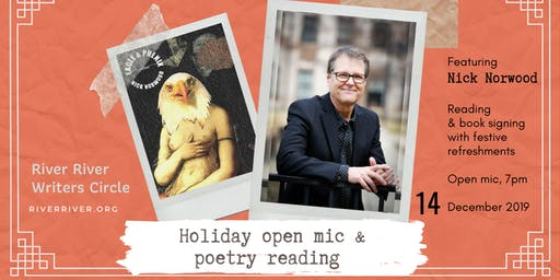 Holiday open mic and poetry reading with Nick Norwood