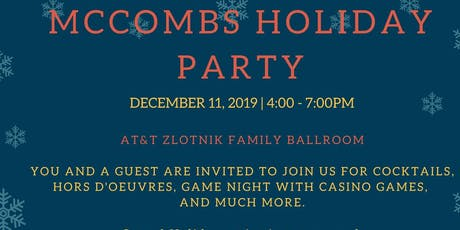 McCombs Holiday Party tickets