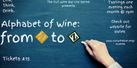 'Alphabet of Wine': E, F & G tickets