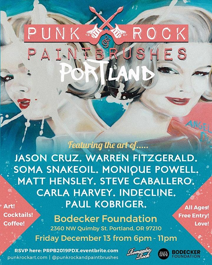 PUNK ROCK & PAINTBRUSHES PORTLAND SHOW image