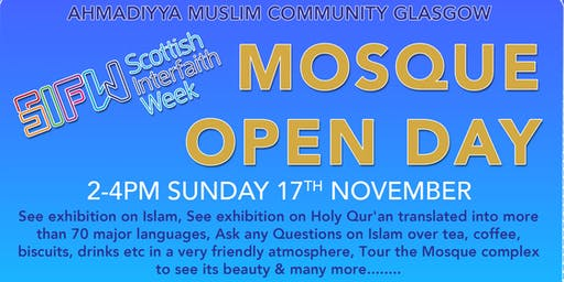 Scottish Interfaith Week MOSQUE OPEN DAY