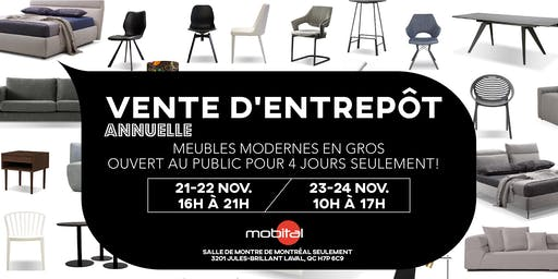 VENTE D'ENTREPÔT     |     WAREHOUSE SALE