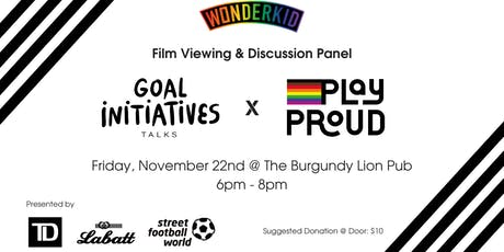 Empowering Young LGBTQ+ Players —GOAL Talks x Play Proud x Wonderkid tickets