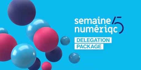 Delegation package - Semaine numériQC 2020   tickets